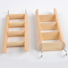 Wheels For Toys NZ - Small Animal Toys Hamster Chew Toys Wooden Hanging Climbing Ladder For Small Pet Mouse Rat Mice Exercise Supplies