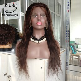 lace front wig human hair 28 Australia - factory supply high quality human virgin hair #1, #1B, #2, #4, natural color hair 8-28 inch lace wig in stock, any texture available