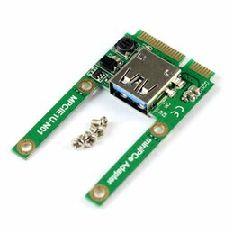 Discount usb pci e riser - Mini PCI-E Card Slot Expansion to USB 2.0 Interface Adapter Riser Card MPCIE to USB Converting Extension F21224
