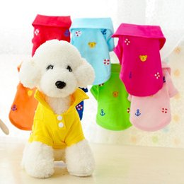 Polo female shirts online shopping - Embroidery Pattern Pet Clothes Casual Soft Lovely Dog Cat Polo T Shirt Breathable Puppy Coat Multi Colors yt BB