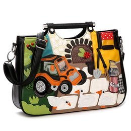 $enCountryForm.capitalKeyWord NZ - 2016 New Borsa SnowJenny Brand Italy Handicraft Art Happy Farm Women Messenger Bag Handbag Female Shoulder Bag Totes
