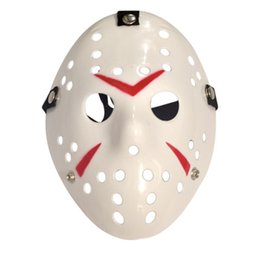 jason hockey mask UK - Retro Jason Mask Horror Funny Full Face Mask Bronze Halloween Cosplay Costume Masquerade Masks Hockey Party Easter Festival Supplies lin4357