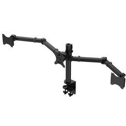Chinese  Desktop Clamping Full Motion 10-30 inch Triple Monitor Holder 360 Degree Three LED LCD Monitor Mount Arm Bracket 10kgs Per Arm manufacturers