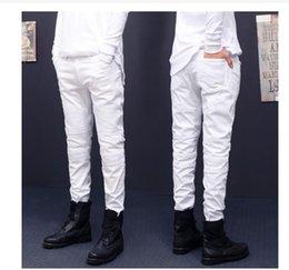 Ingrosso Jeans stile nuovo strappato jeans strappati Fashion Designer Designer Moto Biker dritto Jeans Denim causale Streetwear Jeans uomo stile Cool