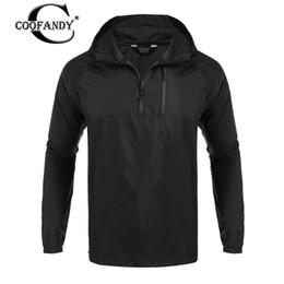 Shirt Poncho Australia - COOFANDY 2017 Hot Fashion Men Casual Waterproof Hooded Raincoat Poncho Jacket Casual T-Shirt Masculina Shirt