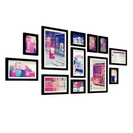 $enCountryForm.capitalKeyWord UK - 12 Photo Frame Wall Gallery Kit Includes: Frames,Gallery Wall Frame Set,Perfect Frame,Art Painting Core,Home and Wall Decorations
