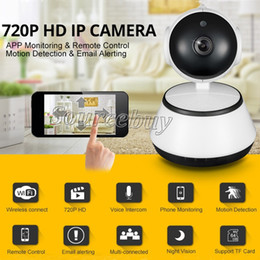 network pc camera UK - V380 HD 720P IP Camera WiFi Wireless Smart Security Camera Micro SD Card Slot Network Rotatable Defender Home Telecam HD CCTV IOS PC