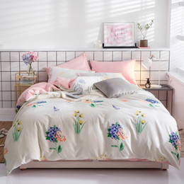 Gold Pineapple Bedding Sets 3 4pcs Geometric Pattern Bed Linings Duvet  Cover 1.2m 1.5m 1.8m 2.0m Fitted Sheet Pillowcases Cover