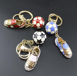 Discount soccer shoes wholesale - Football Soccer Shoes Keychain World Cup Metal Car Purse Bag Buckle Pendant Keyrings Key Chains Women Gift OOA5160