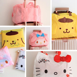 $enCountryForm.capitalKeyWord NZ - Cartoon Women Hello Kitty My Melody Pudding Dog Portable Foldable Luggage Bag Travel Bags Cute Handbag totes Bag