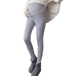 Leggings Pregnant Australia - Kobeinc Winter Spring Leggings Cashmere Pregnant Women Pants Solid Color All Match Trousers For Maternity Warm Thick Clothing