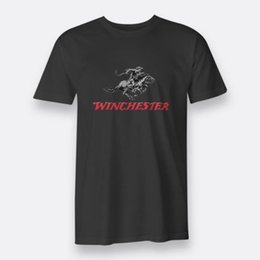 Indian Men S T Shirt NZ - Winchester Rifle Arms American Indian Wars Tees Black S-3XL Men's T-shirts Cartoon t shirt men Unisex New