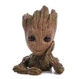 China Galactic Guard Flowerpot Tree Personality Guru Doll Groot Action Digital Cute Model Toy Pen Holder For Kids suppliers