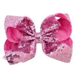 $enCountryForm.capitalKeyWord Australia - Large Sequin Bow Hairpin Baby Girl Hair Clips JOJO Bows Hairclip Cute Headwear Children Hair Accessories Best Birthday Gift Free DHL H935F