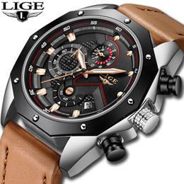 $enCountryForm.capitalKeyWord Australia - 2018 LIGE Brand Fashion Creative Classic Clock Male Vhronograph Leather Quartz Watch Men Sports Waterproof Wrist Watch