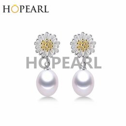 Sterling Silver Earring Blanks Australia - earring blank without pearl yellow center with white petals flower earrings findings 925 sterling silver diy