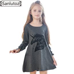 b62b6aee8a360 Sanlutoz Kid Dress Pour Fille De Bande Dessinée Filles Dress Licorne Enfants  Vêtements Hiver Mignon Enfant 2017 Marque De Mode Costume De Fête