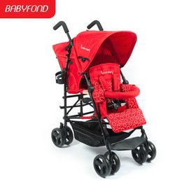 Car two babies online shopping - Kinderwagon twin double baby stroller big light folding super light twins baby stroller two carriage prame car