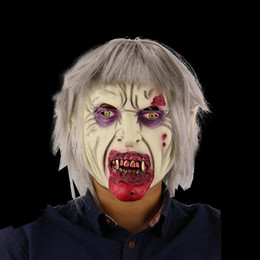 funny horror face mask NZ - Scary Latex Halloween Mask Vampire Zombie Cosplay Full Face Horror Masquerade Adult Funny Ghost Headgear Haunted Party Props