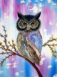 $enCountryForm.capitalKeyWord Canada - Mosaic home decoration animal cute color owl diy diamond painting cross stitch kit rhinestone full round diamond embroidery ro0063
