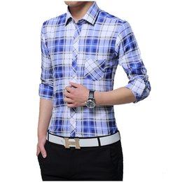 $enCountryForm.capitalKeyWord Canada - 2017 Men Shirt Male Dress Shirts Men'S Fashion Casual Long Sleeve Plaid Shirt Business Formal Camisa Social Masculina 5XL