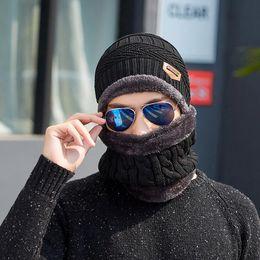 $enCountryForm.capitalKeyWord Australia - Fashion Unisex Knitted Hat scarf Cap Neck Warmer Winter Hats For Men Scarf Collar Caps Women Skullies Bonnet Beanie Casual Baggy Fleece Mask