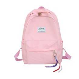 Best Bags For School UK - Women Backpack For School Teenagers Girls Canvas Letter Japan Ring Best Travel Bag Female Ribbon Girl Shoulder Bag Mochilas