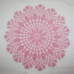 $enCountryForm.capitalKeyWord NZ - Large Coral Doily, Crochet Lace Doily, Round Cotton Doily, Crochet Centerpiece, Lace Tablecloth, Table Topper, 17 inchesLarge Pink Crochet D