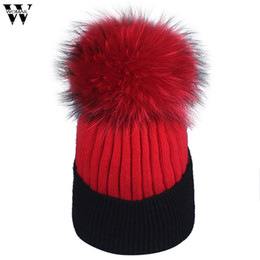 $enCountryForm.capitalKeyWord UK - New Hat 1PC Fashion Simplicity Womens Winter Hand Knit Wool Pompoms Beanie Hairball Hats 2018 Nov1