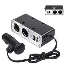 12v lighter socket adapter online shopping - 12v Way Car Cigarette Lighter Power Socket Charger Adapter Dual USB Port for iPhone Samsung Universal