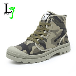 army green shoes Canada - Men's Boots Spring Autumn 2017 Fashion Canvas Shoes Flats Comfortable Casual Boots Ankle Army Green Fashion Male Footwear 38-47