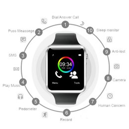 $enCountryForm.capitalKeyWord Australia - A1 Smart Watch Smartwatch Bluetooth Digital Wrist Sport Watch SIM Card Intelligent Mobile Phone With Camera For iOS Android Samsung