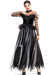 $enCountryForm.capitalKeyWord NZ - 2018 New Witch Princess Dress Sexy Black Women Dresses Cosplay Halloween Costume Party Fancy Ball Clothing By DHL Hot Selling