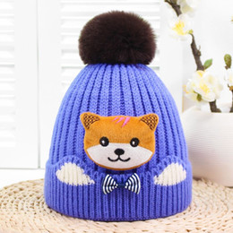 f79278ed6c9fd New Design Winter Hats For Kid Knit Cartoon cat Beanie Baby Hat Children  Fur Pom Pom Hats For Girls Boys Warm Cap Skullies