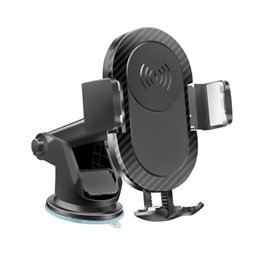 pda cars UK - Automatic car sucker holder, 5W Wireless charger phone holder for iphone 8 ,iphone XS, iphone XR Wireless charging phone