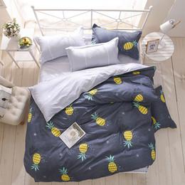 Black White Rose Bedding Australia - Cartoon Plant Pineapple Bedding Set Modern Style 3 4pcs Paper Plane Bedding Set Duvet Cover Bed Sheet Pillowcase