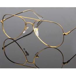 90a3d33d95 Deporte Hombres Mujeres Vintage Retro Aviator Gafas de sol al aire libre  Marco de anteojos Gafas RX Gafas graduadas Lente simple