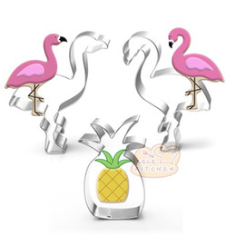 Tree Cutters NZ - Flamingo, Pineapple Coconut tree Stainless steel Cake Cookie Bakeware Cake Mould Fondant Cookie Cutters Biscuit Mold DIY