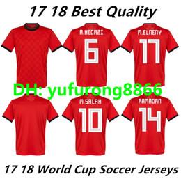 ccd1d403c 2018 2019 Egypt soccer jersey M. SALAH world cup Home Red 18 19 KAHRABA A.  HEGAZI RAMADAN national team uniforms jerseys footbal shirts