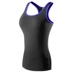 Sexy White Tight Clothes UK - New Yoga Tops Women Sexy Gym Sportswear Vest Fitness tight woman clothing Sleeveless Running shirt Quick Dry White Yoga Tank Top