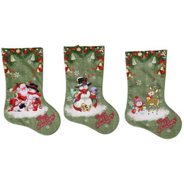 $enCountryForm.capitalKeyWord UK - green Christmas stocking Santa Claus sock gift candy bag Xmas decoration gift for kids Christmas tree ornaments supplies