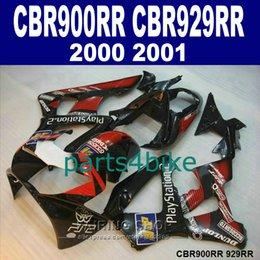 Honda Cbr929 Australia - 7 gifts Fairings set for Honda CBR900RR CBR929 2000 2001 red black fairing kit CBR929RR00 01 AG44