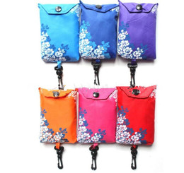 Foldable Flats wholesale online shopping - Folding Foldable Shopping Bags Reusable Eco Friendly Bag Shopping Handbag Tote vegetable fruit Storage Reusable Tote Shopping Bag KKA6158