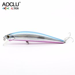 vmc hook lure NZ - AOCLU wobblers Super Quality 5 Colors 11cm 23g Hard Bait Minnow Crank Fishing lures Bass Fresh Salt water 4# VMC hooks Y18101002