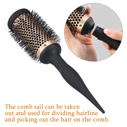 $enCountryForm.capitalKeyWord Australia - 4 Pcs Set Salon Curly Hair Combs Round Hair Brushes Styling Curling Barber Hairdressing Detachable Roller Comb 4 Sizes Hairbrush