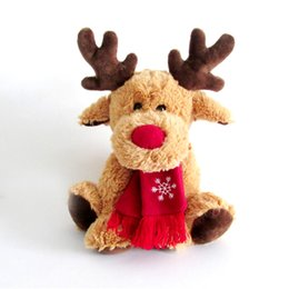 wholesale gifts homes UK - Hot Brown Elk Dolls Plush Toys Home Decor Christmas Toys Plush Dolls Girlfriends Children's Holidays Birthday Gifts Wholesale