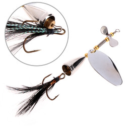 Fishing Lures Trout Metal Australia - 7cm 12.7g Spinner Spoon Metal Bait Fishin Lure Sequins Crankbait Spoon Baits For Bass Trout Perch Pike Rotating Fishing