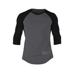 5804fd0f016 New Fashion High-elasticity Sporting T-shirt muscle Men long Sleeve Fitness  T shirt Men s solid gyms Bodybuilding T-shirt M-XXL