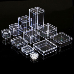 $enCountryForm.capitalKeyWord Australia - Transparent Clear Plastic Storage Box Jewelry Organizer Case Coins Earrings Necklace Storage Cosmetic Organizer