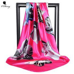 $enCountryForm.capitalKeyWord Canada - Silk Twill Square Hair Scarf 90*90cm Summer Print Foulard Satin Head Scarves Women Luxury Designer Shawls Bandana Large Hijab